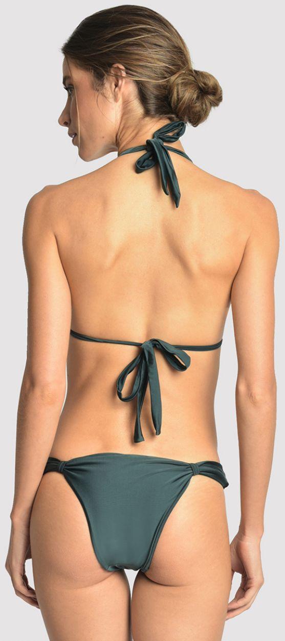 Mörkgrön trekants- bikini med ring-detaljer - ADJUSTABLE ATLANTIC