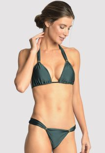 Dark green bikini with ring details - ADJUSTABLE ATLANTIC