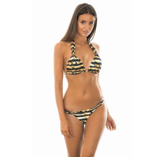 Luxueux bikini triangle foulard bicolore - ADJUSTABLE HALTER BIKINI PHOENIX