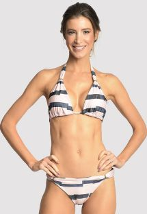 Bi-color bikini with golden ring details - ADJUSTABLE MARINA