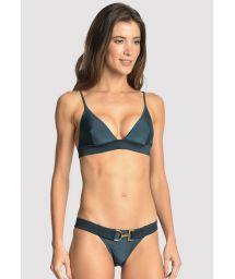 Bikini brésilien bleu foncé luxe avec ceinture - ARMY BLUE STAR