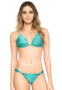 Padded triangle bikini with cross-over back - CARIBE