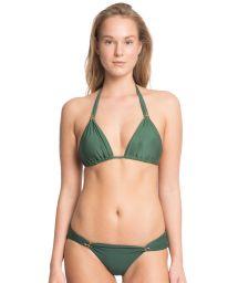 Green halterneck triangle bikini with snake detail - ESMERALDA  VERDE