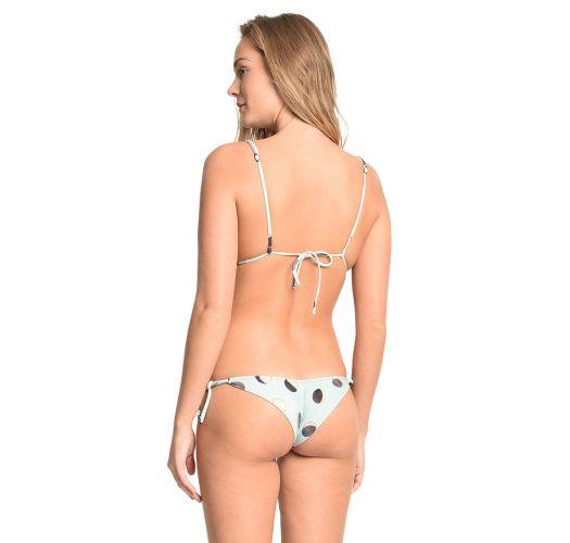 Trekant-bikini, blekt blått mønster, retro - ESTRELA DO MAR