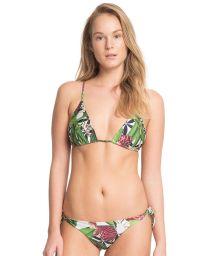 Luxe floral halterneck swimsuit - FOLHA VERDE