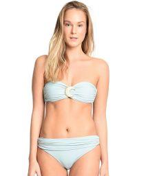 Ljusblå bikini med bandeau-bh och hög midja - LITORAL PERNAMBUCANO