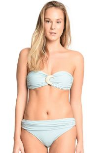 Pale blue bandeau and high-waisted briefs bikini - LITORAL PERNAMBUCANO