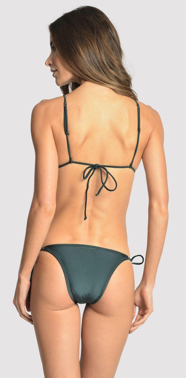 Lyxig, mörkgrön smyckad bikini - LONG HALTER STRING ATLANTIC