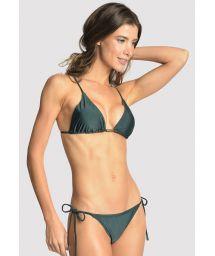 Bikini brésilien luxe vert foncé accessoirisé - LONG HALTER STRING ATLANTIC