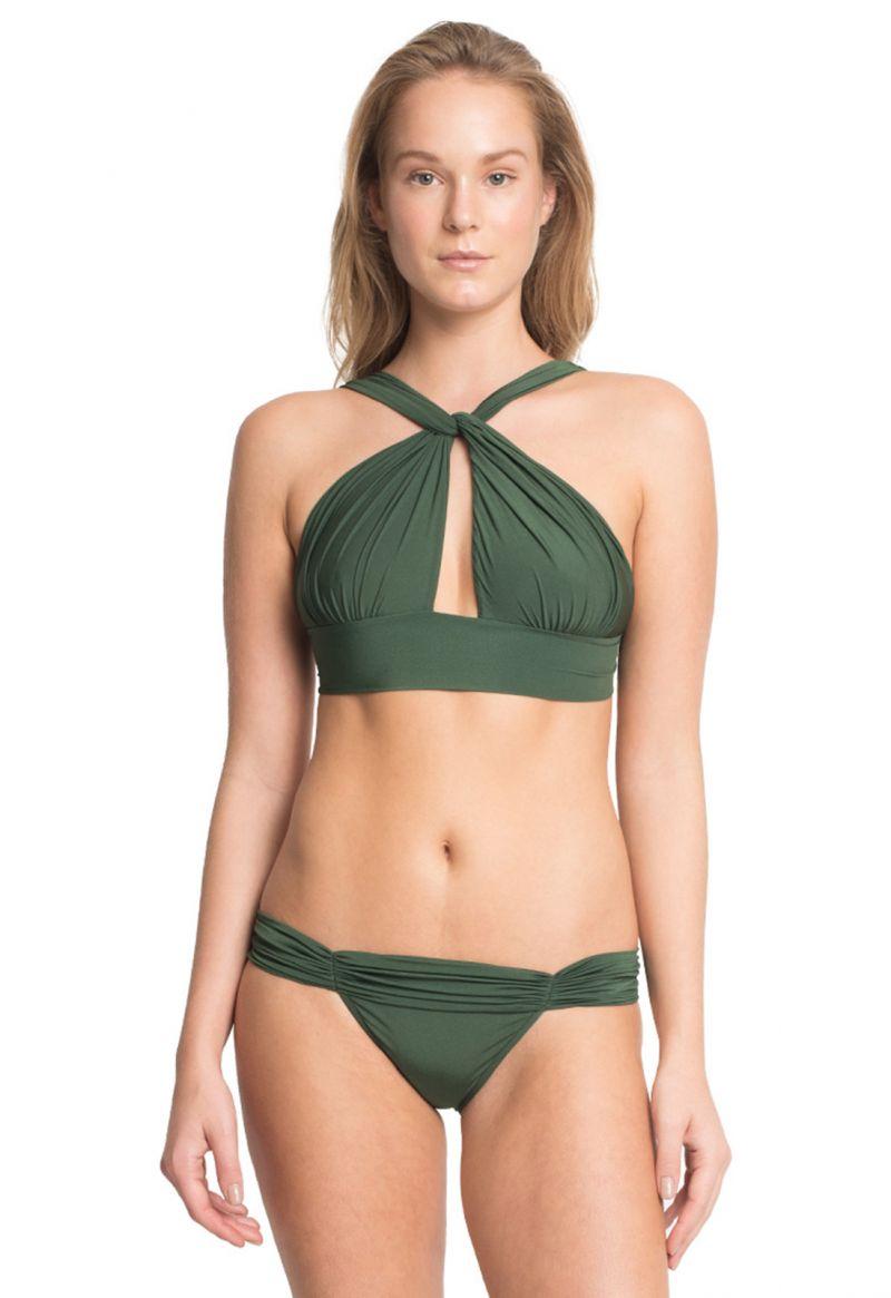 Originell, mörkgrön bikini med kort topp - MANDAGASCAR
