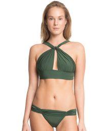 Original dark green crop topswimsuit - MANDAGASCAR