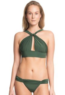 Original dark green crop top swimsuit - MANDAGASCAR