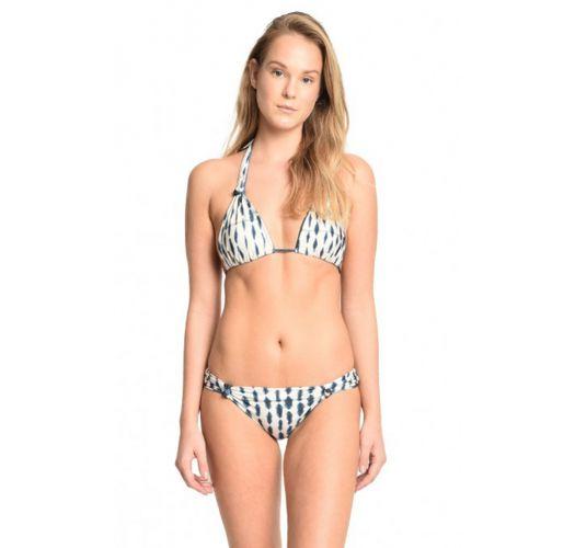 Trekant-bikini med halterneck, vendbart mønster - PETALAS BRANCAS