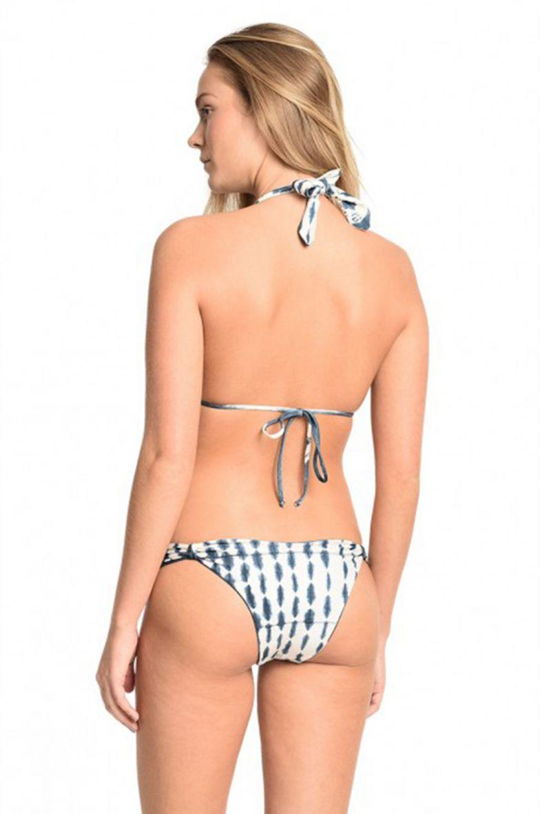 Vändbar tryckt trekants- bikini - PETALAS BRANCAS