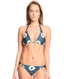 Reversible printed halterneck triangle bikini - PETALAS BRANCAS