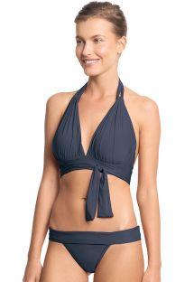 Bikini blu scuro con top a triangolo allacciato sul davanti - TOUCH SAFIRA