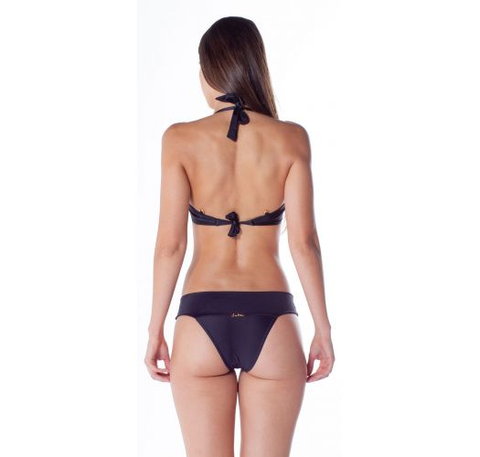 Accessorized black padded balconette bikini - ACESSÓRIO COS PRETO