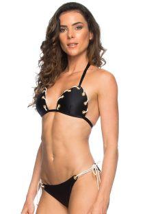 Czarne bikini z ozdobnym sznureczkiem - CORDA PRETO