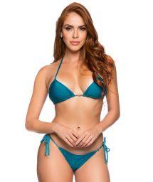Side-tie Brazilian thong bikini with triangle top - CORTININHA FRENCH