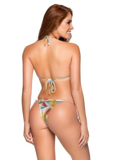 Geometric side-tie Brazilian bikini - CORTININHA GEOMETRIC ART