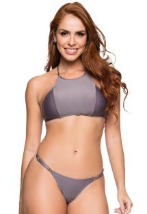 Grey adjustable string bikini with crop top - CROPPED VINTAGE