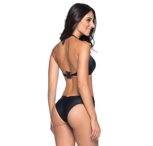 Wattierter Balconette-Bikini mit Ösendetail - DRAPE ILHOS PRETO