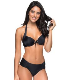 Black balconette bikini with eyelets - DRAPE ILHOS PRETO