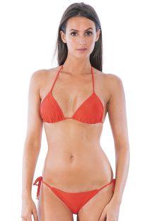 Bikini corpiño en triangulo unido, parte inferior rebajada - ESSENCIAL ROSSO