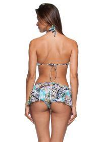 3-piece bikini: Crop top, thong bottom, and skirt - ILHOS LETOH