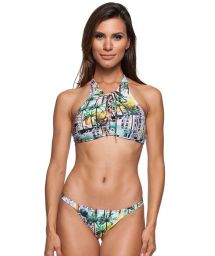 3-piece bikini: Crop top, thong bottom, and skirt - ILHOS LETOH