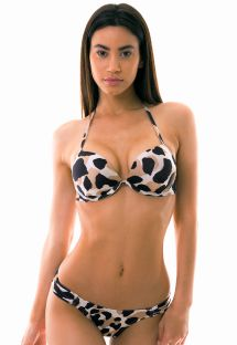 Bikini string animal et top push up armatures - JANGADA