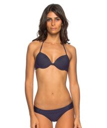 Midnight blue underwired balconette bikini - LAYSLA