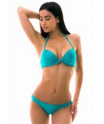 Underwired push-up bikini - turquoise - MARE CHEIA