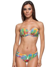 Colourful printed bikini with underwired balconette top - MATISSE DRAPEADA