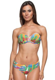 Colourful printed bikini with underwired balconette top - MATISSE DRAPEADA
