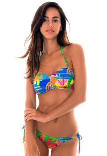 Bikini fascia zip stampa colorata naïf - MATISSE IGUAL
