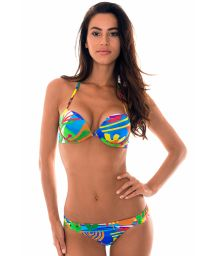 Multicoloured naïve print push up bikini - MATISSE SUPER