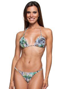 Bikini triangolo stampato con lacci regolabil - MINI LETOH