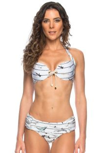 Nautical push-up bikini with cord and eyelet detail - NAUTICO ILHOS