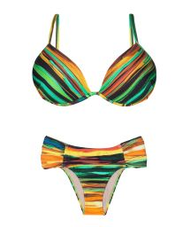 Paint stripe style balconette bikini with cups - PINTURA LISTRA
