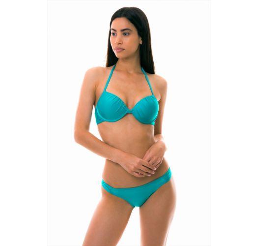 Underwired balconette bikini- turquoise - PONTA VERDE