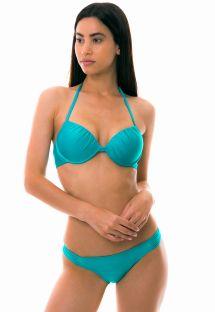 Bikini tipo balconette con varillas - turquesa - PONTA VERDE