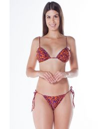 Scrunch-Bikini, Leopardenmuster orange/lila - RIPPLE JAGUAR