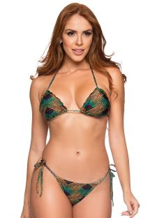 Colorful Brazilian scrunch bikini wavy edges - RIPPLE METALLIC