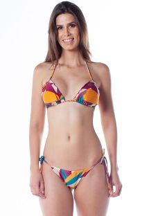 Ripple colorful print scrunch bikini - RIPPLE RAMA