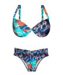 Printed balconnet underwire swimsuit - RIVA NOVA