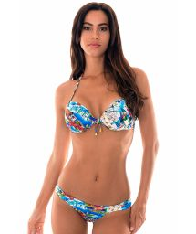 Printed Brazilian bikini with push-up top - RIVIERA FRANCAISE