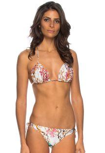White scrunch bikini - colorful coral - SERGIPE