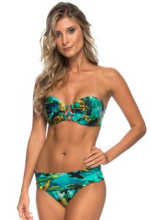 Accessorised bandeau bikini in shark print - SHARKS COS