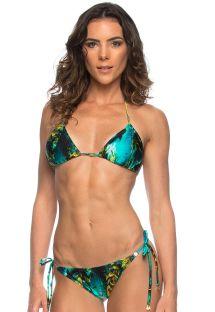 Marine-print Brazilian bikini - SHARKS LACINHO